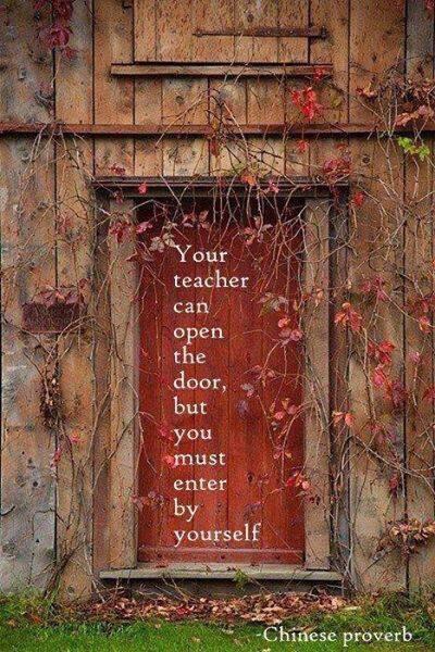 Il tuo insegnante può aprire la porta, ma ci devi entrare con te stesso.