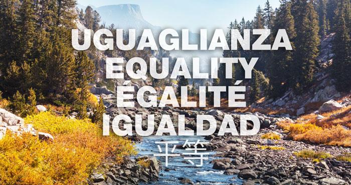 Uguaglianza Equality Egalite igualdad